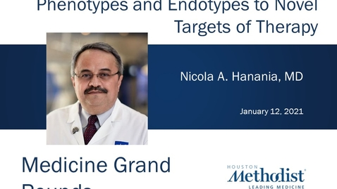 Thumbnail for entry A Fresh Look at Asthma with Nicola Hanania, MD 01.12.21