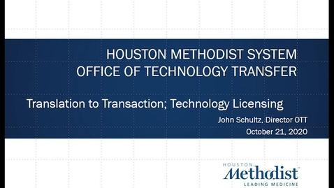Thumbnail for entry 10-Translation to Transaction: Technology Licensing 10.21.20