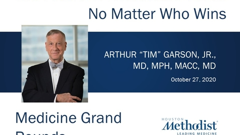 Thumbnail for entry Future of Healthcare Costs with Tim Garson, Jr,  MD, MPH  10.27.20