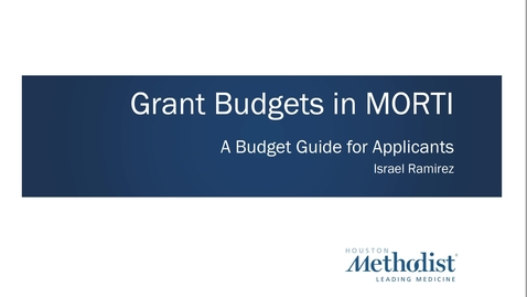 Thumbnail for entry Grant Budget Basics Lecture 08.24.21