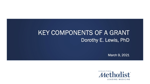 Thumbnail for entry Key Components of a Grant 3.9.21