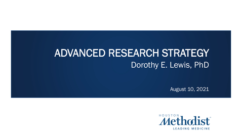 Thumbnail for entry Advanced NIH Research Strategy 08.10.21