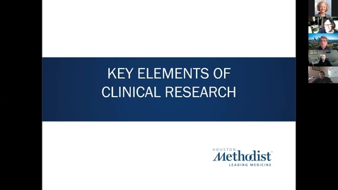 Thumbnail for entry Key Elements of Clinical Research- Course 6: Industry Supported Clinical Trials 10.19.20