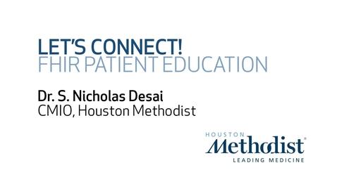 Thumbnail for entry Let's Connect - FHIR Patient Education