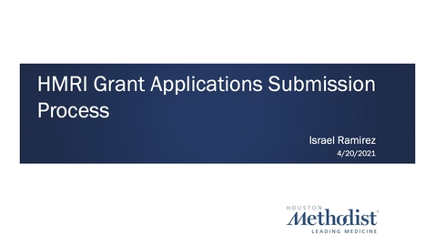 Thumbnail for entry Grant Submission Process 04.20.21