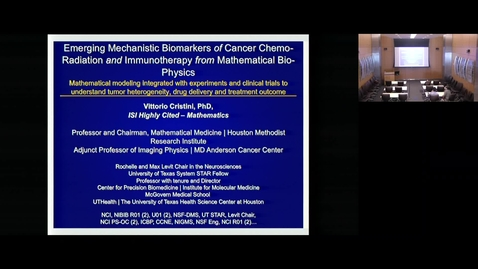Thumbnail for entry Mechanistic Biomarkers of Radiation with Vittorio Cristini, PhD 3.29.19