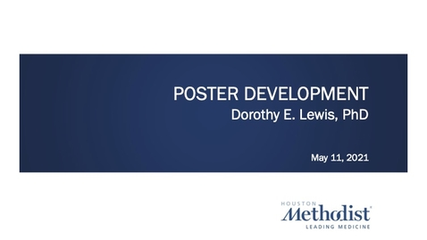 Thumbnail for entry Poster Development Workshop 05.11.21