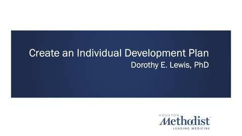 Thumbnail for entry Individual Development Plan Workshop 01.26.21