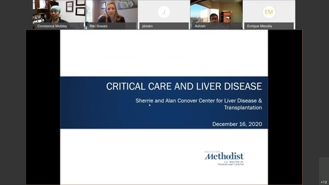 Thumbnail for entry Critical Care and Liver Disease - 12.16.20