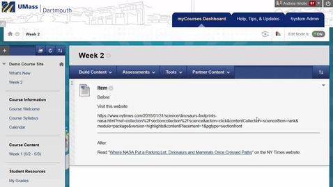 Thumbnail for entry Creating Descriptive Hyperlinks