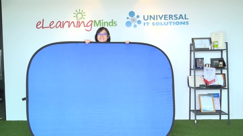 Thumbnail for entry How To Fold Portable Green/Blue Screen