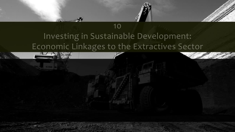 Thumbnail for entry Introduction to Economic Linkages