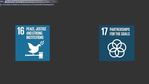Thumbnail for entry The 2030 Agenda for Sustainable Development and the 17 SDGs