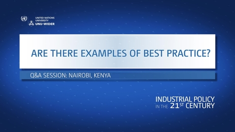 Thumbnail for entry Q&A: Are there examples of best practice in Africa?