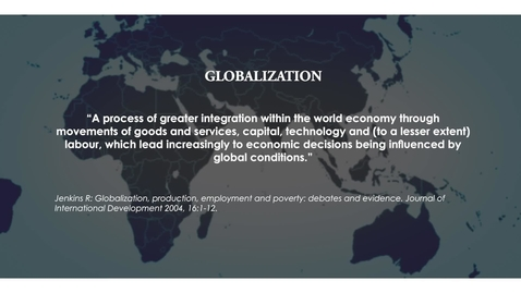 Thumbnail for entry Globalization and Public Health