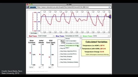 Thumbnail for entry Zero-dimensional Energy Balance Model Demonstration