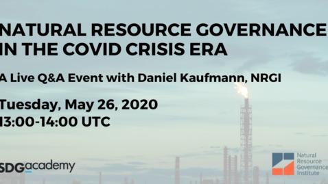 Thumbnail for entry Q&A   Daniel Kaufmann   2020 May 26