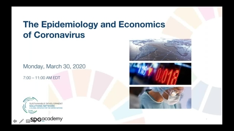 Thumbnail for entry The Epidemiology and Economics of Coronavirus