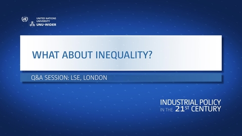 Thumbnail for entry Q&A: What about inequality?