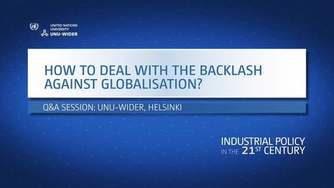 Thumbnail for entry Q&A: How to deal with the backlash against globalization?