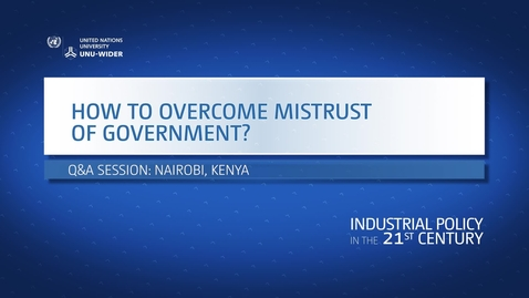 Thumbnail for entry Q&A: How to overcome mistrust of government?
