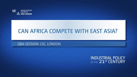 Thumbnail for entry Q&A: Can Africa compete with East Asia?