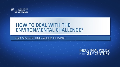 Thumbnail for entry Q&A: How to deal with the environmental challenge?