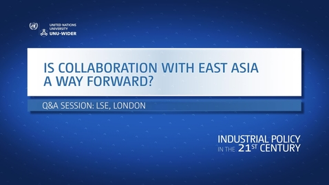 Thumbnail for entry Q&A: Is collaboration with East Asia a way forward?