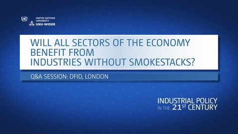 Thumbnail for entry Q&A: Will all sectors of the economy benefit from industries without smokestacks?