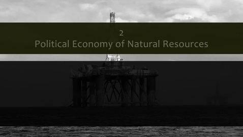 Thumbnail for entry How natural resources shape and are shaped by political context