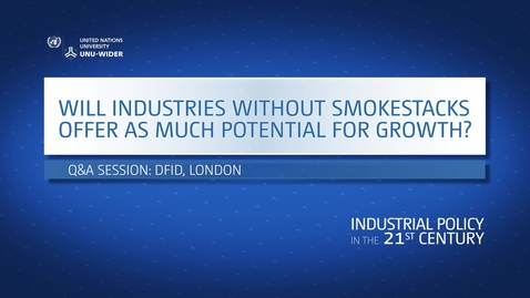 Thumbnail for entry Q&A: Will industries without smokestacks offer as much potential for growth?