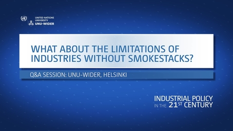 Thumbnail for entry Q&A: What about the limitations of industries without smokestacks?
