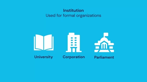 Thumbnail for entry Introduction to Institutions and the Role of Institutions in Water Diplomacy