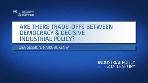 Thumbnail for entry Q&A: Are there trade-offs between democracy and decisive industrial policy?