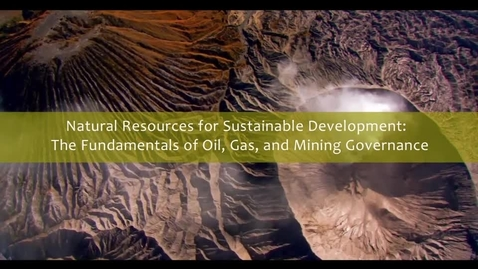 Thumbnail for entry Natural Resources for Sustainable Development - Trailer