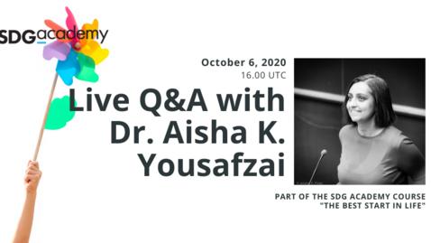 Thumbnail for entry Q&A | Aisha K. Yousafzai | 2020 Oct. 6