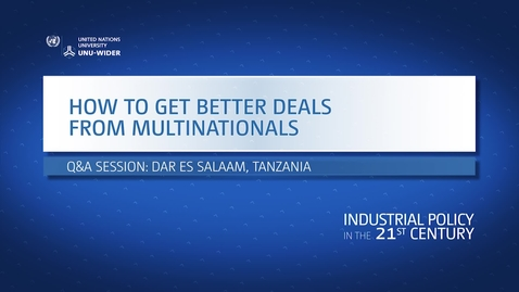 Thumbnail for entry Q&A: How to strike better deals with multinationals?