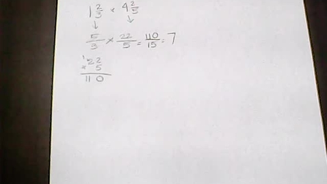Thumbnail for entry Math-April 6/7.9 Multiply Mixed Numbers