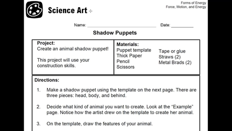 Thumbnail for entry Stemscopes-Science Art- Forms of Energy