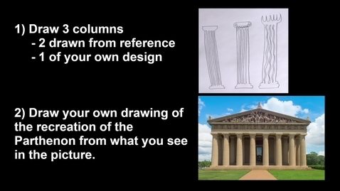 Thumbnail for entry 2nd Grade Architecture - Columns & the Parthenon