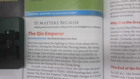 Thumbnail for entry 6th Grade Social Studies - The Qin and Han Dynasties - Thursday May 29