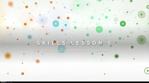 Thumbnail for entry CKLA Skills Unit 4 Lesson 5 - 2nd Grade