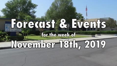 Thumbnail for entry Nov. 18 2019 Vintage Weather Forecast and Events for the week