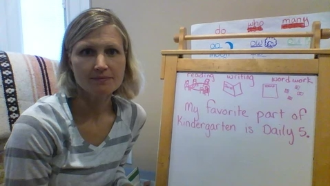 "Thumbnail for entry Tuesday 5/12: Drafting and Proofreading ""My Favorite Part of Kindergarten"""
