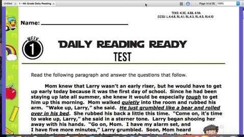 Thumbnail for entry Reading Quiz for August 28