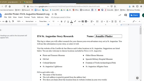 Thumbnail for entry IT4 - How to Attach and Email your St. Augustine Research Log