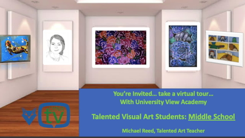 Thumbnail for entry UVA Talented Art Middle School 2020 Mr.Reed