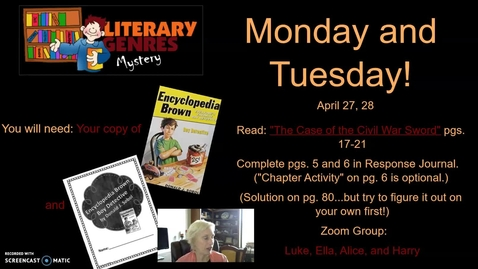 Thumbnail for entry Mystery Genre: Encyclopedia  Brown, Week 2