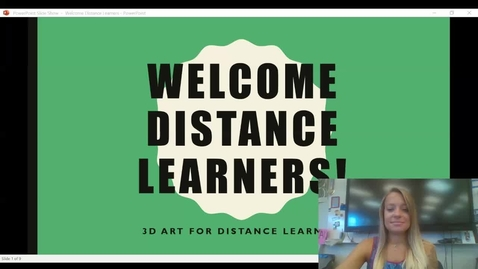 Thumbnail for entry Welcome Distance Learners