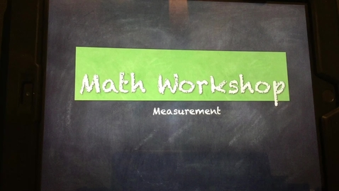 Thumbnail for entry Math Workshop-Wednesday, March 25th, 2020